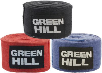 Бинт Green Hill, 3,5 м, 2 шт.Высококачественные бинты выполнены из натурального хлопка. Для фиксации бинта на запястье предусмотрена липучка бинты поставляются в комплекте из 2 штук.<br>Состав: хлопок; Вид спорта: Бокс, ММА; Производитель: Green Hill; Артикул производителя: BC-6235; Размер RU: 3,5 м;