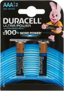 Батарейки щелочные Duracell Ultra Power ААА/LR03, 2 шт.