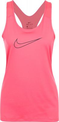 Майка женская Nike ProТехнологичная женская майка nike pro - отличный выбор для занятий фитнесом. Отведение влаги ткань, выполненная по технологии nike dri-fit, эффективно отводит влагу от кожи.<br>Пол: Женский; Возраст: Взрослые; Вид спорта: Фитнес; Покрой: Приталенный; Дополнительная вентиляция: Да; Технологии: Nike Dri-FIT; Производитель: Nike; Артикул производителя: 889560-823; Страна производства: Вьетнам; Материалы: 84 % полиэстер, 16 % эластан; Размер RU: 46-48;