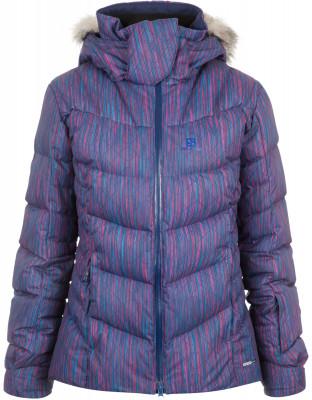 Куртка пуховая женская Salomon IcetownТехнологичная куртка salomon - оптимальный вариант для катания на горных лыжах. Защита от влаги технология advancedskin dry защищает от дождя, снега и ветра.<br>Пол: Женский; Возраст: Взрослые; Вид спорта: Горные лыжи; Наличие мембраны: Да; Регулируемые манжеты: Да; Водонепроницаемость: 10 000 мм; Паропроницаемость: 10 000 г/м2/24 ч; Защита от ветра: Да; Температурный режим: До -20; Покрой: Свободный; Дополнительная вентиляция: Да; Проклеенные швы: Да; Датчик спасательной системы: Нет; Капюшон: Отстегивается; Мех: Искусственный; Снегозащитная юбка: Да; Количество карманов: 3; Карман для маски: Да; Карман для Ski-pass: Да; Выход для наушников: Нет; Водонепроницаемые молнии: Да; Артикулируемые локти: Да; Совместимость со шлемом: Да; Технологии: AdvancedSkin Dry, AdvancedSkin Warm, MOTION FIT; Производитель: Salomon; Артикул производителя: L39892000; Страна производства: Индонезия; Материал верха: 100 % полиэстер; Материал подкладки: 100 % полиэстер; Материал утеплителя: 80 % пух, 20 % перо; Размер RU: 54;