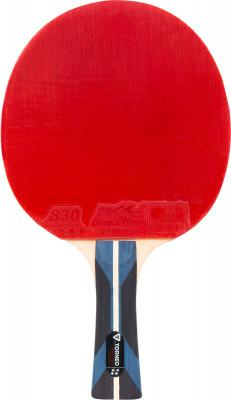 Ракетка для настольного тенниса Torneo Master SpeedРакетка для настольного тенниса torneo master speed подходит для совершенствования техники удара и позволит играть на больших скоростях.<br>Скорость: 93; Контроль: 84; Вращение: 80; Тип основания: OFF+; Материал основания: Платан, абачи; Количество слоев основания: 7; Толщина основания: 5,5 мм; Форма ручки: Вогнутая; Тип накладки: Гладкая; Толщина губки: 2,0 мм; Материал накладки: Резина ITTF 830, губка; Вид спорта: Настольный теннис; Количество звезд: 4; Уровень подготовки: Профессионал; Технологии: HWM, Sandwich, Spin-Speed; Производитель: Torneo; Артикул производителя: TI-B4.50; Срок гарантии: 12 месяцев; Страна производства: Китай; Размер RU: Без размера;