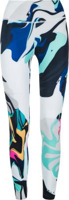 Легинсы женские Nike All-In, размер 40-42Брюки <br>Оригинальные и яркие легинсы длиной 7 8 от nike - отличный выбор для занятий фитнесом.