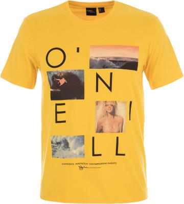 Футболка мужская ONeill Lm Neos, размер 52-54Surf Style <br>Футболкаот o neill прекрасно подойдет для жаркой погоды. Свобода движений за счет прямого кроя футболки обеспечивается максимальная свобода движений.
