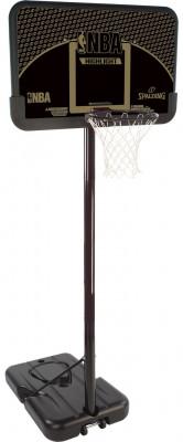 Баскетбольная стойка Spalding 2013 Highlight 44 Composite SystemБаскетбольная мобильная стойка с системой телескопического подъема и опускания щита, регулировка высоты кольца 2, 28-3, 05 м.<br>Вес, кг: 26,72; Размеры (дл х шир х выс), см: 113 x 83 x 24,5 см - размеры упаковки; Состав: Композит, металл, пластмасса; Вид спорта: Баскетбол; Производитель: Spalding; Артикул производителя: 77685CN; Страна производства: Китай; Размер RU: Без размера;