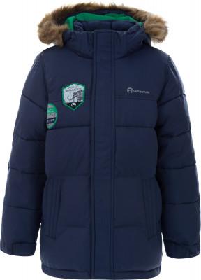 Куртка утепленная для мальчиков OutventureТехнологичная утепленная куртка для мальчиков от outventure - удачный вариант для путешествий.<br>Пол: Мужской; Возраст: Малыши; Вид спорта: Путешествие; Вес утеплителя на м2: 200 г/м2; Наличие мембраны: Да; Наличие чехла: Нет; Возможность упаковки в карман: Нет; Регулируемые манжеты: Нет; Защита от ветра: Да; Покрой: Прямой; Светоотражающие элементы: Да; Дополнительная вентиляция: Нет; Проклеенные швы: Нет; Длина куртки: Средняя; Наличие карманов: Да; Капюшон: Не отстегивается; Количество карманов: 2; Артикулируемые локти: Нет; Застежка: Молния; Технологии: ADD DRY, ADD WARM; Производитель: Outventure; Артикул производителя: UJAB10Z411; Страна производства: Китай; Материал верха: 100 % нейлон; Материал подкладки: 100 % полиэстер; Материал утеплителя: 100 % полиэстер, искусственный мех: 100 % акрил; Размер RU: 110;