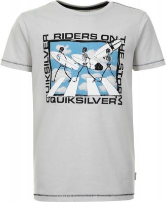 Футболка для мальчиков Quiksilver Stormy Rider Ss Youth, размер 152-158Футболки и майки<br>Удобная футболка для мальчиков от quiksilver прекрасно подойдет для пляжного отдыха. Комфортная посадка мягкий эластичный материал гарантирует удобную посадку.