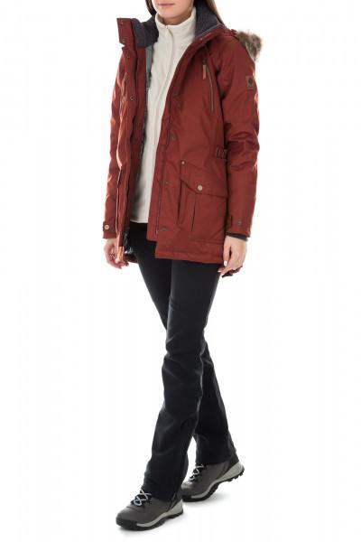 Куртка пуховая женская Columbia Barlow Pass 550 TurboDown кирпичный цвет -  купить за 9999 руб. в интернет-магазине Спортмастер 8786af6d398