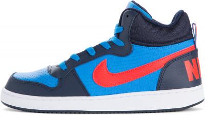 Кеды для мальчиков Nike Court Borough Mid, размер 37Кеды <br>Удобные и надежные кеды для мальчиков nike court borough mid (gs), выполненные в стиле классических баскетбольных моделей.