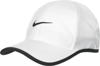Бейсболка Nike FeatherlightТеннисная бейсболка nike featherlight. Влагоотводящая ткань, выполненная по технологии nike dri-fit, и вставки из сетки обеспечивают комфорт и оптимальный микроклимат.<br>Пол: Мужской; Возраст: Взрослые; Вид спорта: Теннис; Технологии: Nike Dri-FIT; Производитель: Nike; Артикул производителя: 679421-100; Страна производства: Вьетнам; Материал верха: 100 % полиэстер; Материал подкладки: 91 % полиэстер, 9 % эластан; Размер RU: Без размера;
