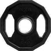 Диск олимпийский обрезиненный с рукоятками RZR, 2,5k кг