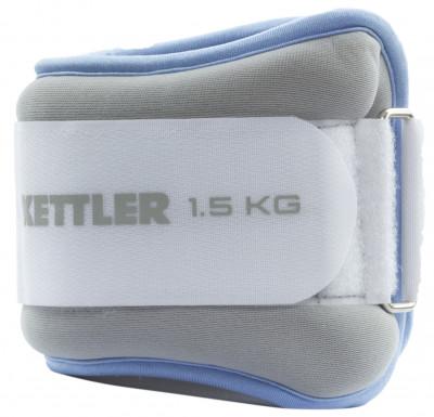 Утяжелитель для ног Kettler, 2 х 1,5 кгУтяжелители<br>Нейлоновые утяжелители для физических упражнений. Вес: 2 х 1, 5 кг.