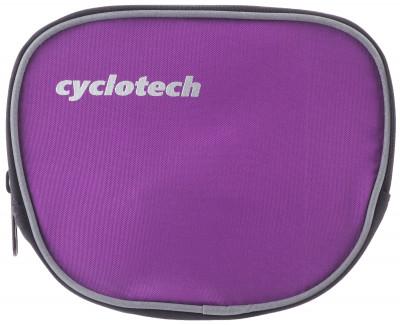 Велосипедная сумка CyclotechВелосипедная сумка. Особенности модели крепление на руль быстрая и легкая установка.<br>Материал верха: 100 % полиэстер; Объем: 0,1 л; Чехол от дождя: Нет; Органайзер: Нет; Размеры (дл х шир х выс), см: 15 x 13 x 6; Вид спорта: Велоспорт; Производитель: Cyclotech; Артикул производителя: CYC-7VI.; Страна производства: Китай; Размер RU: Без размера;
