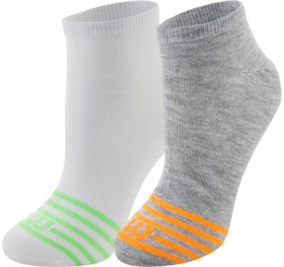 Носки Wilson, 2 парыПрактичные носки для занятий спортом wilson. Благодаря эластичной ткани, носки облегают ногу, что гарантирует удобную плотную посадку.<br>Пол: Мужской; Возраст: Взрослые; Вид спорта: Спортивный стиль; Дополнительная вентиляция: Да; Производитель: Wilson; Артикул производителя: W587-V; Страна производства: Китай; Материалы: 98 % полиэстер, 2 % эластан; Размер RU: 35-38;