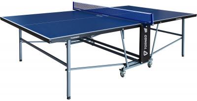 Теннисный стол для помещений TorneoСтол для для закрытых помещений с удобным и надежным механизмом складывания. Приводится в игровое положение за одну минуту.<br>Размер в рабочем состоянии (дл. х шир. х выс), см: 274 х 152,5 х 76; Размер в сложенном виде (дл. х шир. х выс), см: 165 х 174 х 61; Вес, кг: 76; Складная конструкция: Да; Блокиратор в механизме складывания: Да; Труба: Квадратная; Диаметр трубы: 30 x 30 мм; Материал каркаса: Сталь; Толщина игровой плиты, мм: 15; Позиция Playback: Да; Антибликовое покрытие: Да; Игровая поверхность: МДФ; Транспортировочные ролики: Да; Блокиратор колес: Да; Диаметр колес: 7,5 см; Материал колес: Сталь, резина; Зажимной механизм: Да; Вид спорта: Настольный теннис; Производитель: Torneo; Артикул производителя: TTI03-02M; Срок гарантии: 2 года; Страна производства: Китай; Размер RU: Без размера;