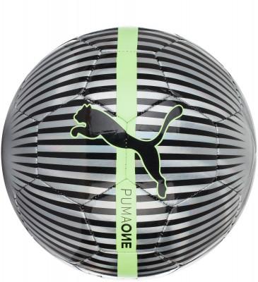 Мяч футбольный Puma One ChromeЛюбительский футбольный мяч от puma станет отличным выбором для игр с друзьями. Снижение ударных нагрузок подкладка из пеноматериала снижает ударную нагрузку на ноги.<br>Сезон: 2017/2018; Возраст: Взрослые; Вид спорта: Футбол; Тип поверхности: Универсальные; Назначение: Любительские; Материал покрышки: Резина; Материал камеры: Резина; Способ соединения панелей: Машинная сшивка; Количество панелей: 32; Производитель: Puma; Артикул производителя: 82821; Срок гарантии: 30 дней; Страна производства: Китай; Размер RU: 5;