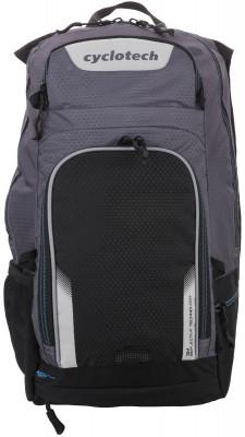 Рюкзак велосипедный CyclotechРюкзак, оснащенный специальными спортивными лямками и отсеком для питьевой системы с возможностью провода шланга на лямку рюкзака.<br>Крепление для шлема: Есть; Объем: 18 л; Чехол от дождя: Есть; Размеры (дл х шир х выс), см: 47 x 30 x 23; Материалы: 100 % полиэстер; Вид спорта: Велоспорт; Производитель: Cyclotech; Артикул производителя: CYC-18.; Страна производства: Китай; Размер RU: Без размера;