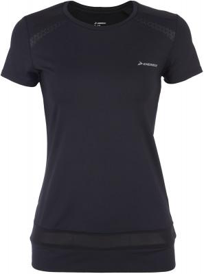 Футболка женская Demix, размер 44Футболки<br>Удобная футболка для тренинга от demix. Плотная посадка продуманный крой обеспечивает удобную посадку.