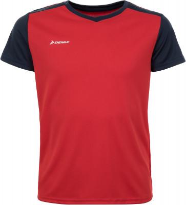 Футболка для мальчиков Demix, размер 128Футболки и майки<br>Детская игровая футболка от demix - отличный выбор для матчей и тренировок. Отведение влаги ткань с технологией movi-tex эффективно отводит влагу.