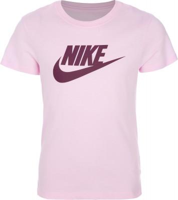 Футболка для девочек Nike Sportswear, размер 137-146Футболки и майки<br>Детская футболка в спортивном стиле от nike. Натуральные материалы мягкая и воздухопроницаемая хлопковая ткань гарантирует комфорт.