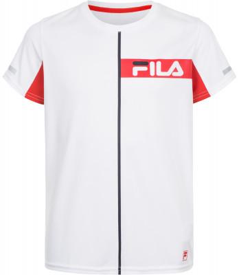 Футболка для мальчиков Fila, размер 164Одежда для мальчиков<br>Детская теннисная футболка, выполненная в классическом стиле fila, станет отличным выбором для юных спортсменов.