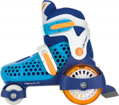 REACTION Junior Boy 2017 40, 80 mmДетские роликовые коньки junior boy отлично подходят начинающим роллерам.<br>Назначение: Детские; Пол: Мужской; Уровень подготовки: Начинающий; Возраст: Дети; Вид спорта: Роликовые коньки; Материал рамы: Композитные материалы; Тип подшипников: ABEC 3; Наличие тормоза: Да; Диаметр колеса: 40-80 мм; Жесткость колеса: 82А; Вентиляция: Да; Тип фиксации: Две бакли; Тип ботинка: Жесткий; Раздвижной ботинок: Да; Максимальный вес пользователя: 20 кг; Технологии: Smartsize 4; Производитель: REACTION; Артикул производителя: JR16UMQ29; Срок гарантии: 2 года; Страна производства: Китай; Размер RU: 29-32;