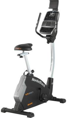 NordicTrack Vx 650 (TIVEX59016)Велотренажер nordictrack - превосходный выбор для домашних кардиотренировок на мышцы ног и пресса.<br>Система нагружения: Магнитная; Масса маховика: 10; Регулировка нагрузки: Электронная; Нагрузка: 24 уровня; Измерение пульса: Датчики на поручнях; Нагрудный кардиодатчик: Опционально; Питание тренажера: Сеть: 220В; Максимальный вес пользователя: 130 кг; Время тренировки: Есть; Скорость: Есть; Пройденная дистанция: Есть; Уровень нагрузки: Есть; Скорость вращения педалей: Есть; Израсходованные калории: Есть; Пульс: Есть; Целевые тренировки (CountDown): Есть; Дополнительные функции: Маршрут; Общее количество тренировочных программ: 24; Пользовательские программы: Есть, через приложение iFIT; Регулировка руля: Есть; Регулировка сиденья: Вертикальная/Горизонтальная; Подставка для аксессуаров: Держатель для бутылки, держатель для планшета; Транспортировочные ролики: Есть; Компенсаторы неровности пола: Есть; Дополнительно: Bluetooth; Размер в рабочем состоянии (дл. х шир. х выс), см: 104 x 63 x 147; Вес, кг: 41; Вид спорта: Кардиотренировки; Технологии: CoolAire, SMR; Производитель: NordicTrack; Артикул производителя: TIVEX59016; Срок гарантии: 2 года; Страна производства: Китай; Размер RU: Без размера;