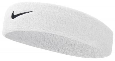 Повязка Nike SwooshСпортивная повязка nike незаменима во время интенсивных тренировок.<br>Пол: Мужской; Возраст: Взрослые; Вид спорта: Теннис; Производитель: Nike; Артикул производителя: N.NN.07-101; Страна производства: Таиланд; Материал верха: 69 % хлопок, 26 % нейлон, 5 % резина; Материалы: 69 % хлопок, 26 % нейлон, 5 % резина; Размер RU: Без размера;