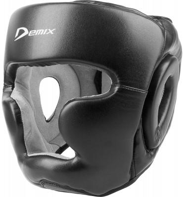 Шлем тренировочный DemixЛегкий и надежный тренировочный шлем незаменимый помощник на ринге. Отлично защищает голову, при этом обеспечивая максимальный угол обзора действий вашего спарринг-партнера.<br>Состав: верх - кожзаменитель, подкладка - искусственная замша, наполнитель - пенополиуретан, саржа х/б; Вид спорта: Бокс, ММА; Производитель: Demix; Артикул производителя: DCS-401BL; Срок гарантии: 6 месяцев; Размер RU: L;