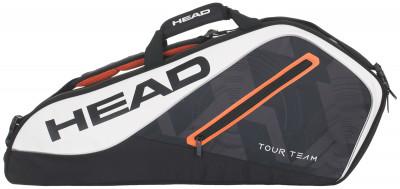 Сумка Head Tour Team 3R ProСумка для трех теннисных ракеток. Помимо основного отделения, в модели предусмотрено два кармана для аксессуаров, внешний и внутренний.<br>Пол: Мужской; Возраст: Взрослые; Вид спорта: Большой теннис; Материалы: 65 % полиэстер, 35 % полиуретан; Размеры (дл х шир х выс), см: 76 х 33 х 10; Производитель: Head; Артикул производителя: 283467; Срок гарантии: 1 год; Страна производства: Китай; Размер RU: Без размера;