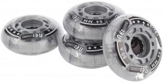 Набор колес со светодиодами Reaction: 64 мм, 80A, 4 шт.