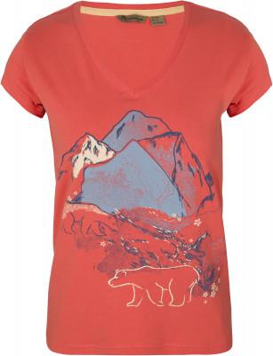 Футболка женская Outventure, размер 48Футболки<br>Практичная футболка от outventure предназначена для долгих прогулок и путешествий в теплое время года. Натуральные материалы в составе ткани преобладает натуральный хлопок.
