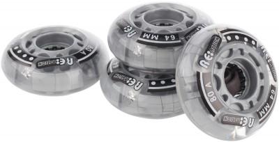 Набор колес со светодиодами REACTION, 4 шт.Набор колес 64 мм жесткостью 80а. Яркие светодиоды, которыми оснащены колеса, не только украсят ролики, но и поспособствуют большей заметности на дороге.<br>Материалы: Полиуретан, пластик; Диаметр: 64 мм; Вес, кг: 0,4; Вид спорта: Роликовые коньки; Производитель: REACTION; Артикул производителя: RW64F92; Срок гарантии: 6 месяцев; Страна производства: Китай; Размер RU: Без размера;