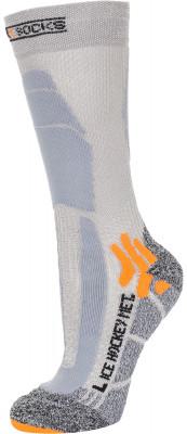 Гольфы X-Socks, 1 параX-socks hockey metal - это идеальные гольфы для хоккейных и фигурных коньков.<br>Пол: Мужской; Возраст: Взрослые; Вид спорта: Фигурное катание, Хоккей; Плоские швы: Да; Дополнительная вентиляция: Да; Производитель: X-Socks; Артикул производителя: X020344-G332; Страна производства: Италия; Материалы: 41 % нейлон, 40 % полиэстер, 12 % акрил, 5 % полипропилен, 2 % эластан; Размер RU: 42-44;