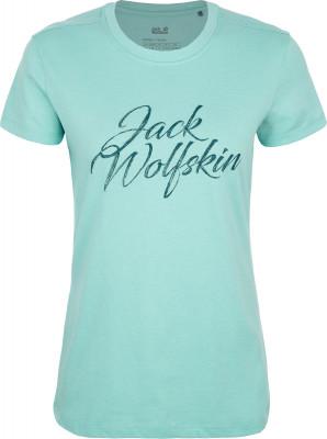 Футболка женская JACK WOLFSKIN Brand, размер 42Футболки<br>Идеальная футболка для активного отдыха на природе jack wolfskin brand t понравится искателям приключений.