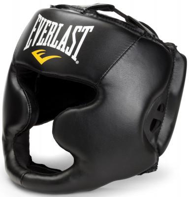 Шлем Everlast Martial Arts Full FaceУдобный и надежный тренировочный шлем незаменимый помощник на ринге. Отлично защищает голову, при этом обеспечивая максимальный угол обзора действий вашего спаринг-партнера.<br>Состав: синт. кожа, 70 % полиэтилен, 30 % резина; Вид спорта: Бокс, ММА; Производитель: Everlast; Артикул производителя: 7420LXLU; Срок гарантии: 14 дней; Размер RU: L-XL;