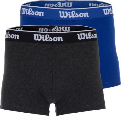 Трусы мужские Wilson, 2 пары, размер 48-50Бельё<br>Удобные хлопковые трусы wilson. Комфорт плоские швы препятствуют натиранию кожи. Натуральные материалы натуральный хлопок обеспечивает отличную воздухопроницаемость.