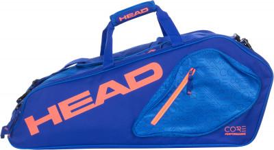 Сумка Head Core 6R CombiСумка с большим отделением, в котором можно разместить шесть теннисных ракеток, а также одежду и обувь. В модели предусмотрено два внешних кармана для аксессуаров.<br>Размеры (дл х шир х выс), см: 75 х 32 х 27; Количество ракеток: 6; Отделение для бутылки: Нет; Отделение для ракетки: Да; Отделение для обуви: Да; Плечевой ремень: Да; Регулируемые лямки: Да; Количество отделений: 2; Количество карманов: 2; Боковые карманы: 2; Вид спорта: Теннис; Артикул производителя: 283547; Производитель: Head; Страна производства: Китай; Срок гарантии: 2 года; Материал верха: 100 % полиэстер; Материал подкладки: 100 % полиэстер; Размер RU: Без размера;