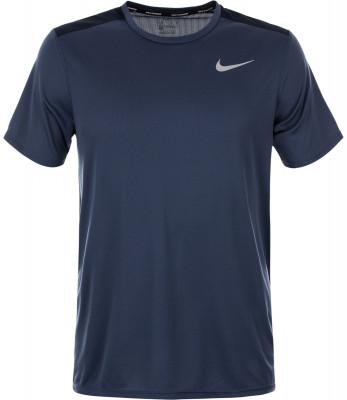 Футболка мужская Nike RunningБеговая футболка от nike, выполненная из технологичного материала, станет оптимальным вариантом для занятий бегом.<br>Пол: Мужской; Возраст: Взрослые; Вид спорта: Бег; Покрой: Прямой; Светоотражающие элементы: Да; Дополнительная вентиляция: Да; Технологии: Nike Dri-FIT; Производитель: Nike; Артикул производителя: 904634-471; Страна производства: Шри-Ланка; Материалы: 100 % полиэстер; Размер RU: 44-46;