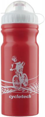 Фляжка велосипедная CyclotechФляжка для крепления на велосипед. Особенности модели: защитная крышка от грязи; объ м 680 мл.<br>Объем: 0,68; Размеры (дл х шир х выс), см: 18 x 7,5 x 7,5; Материалы: Полиэтилен; Вид спорта: Велоспорт; Производитель: Cyclotech; Артикул производителя: CBOT-1R.; Страна производства: Тайвань; Размер RU: Без размера;