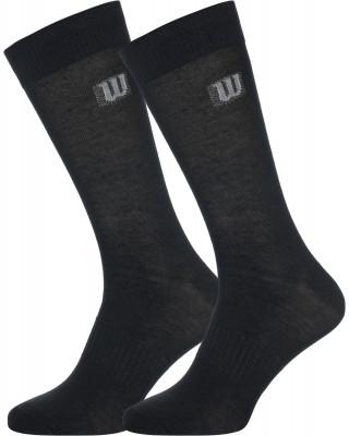 Носки Wilson Crew, 2 парыУдобные носки для тренировок от wilson. Поддержка свода стопы обеспечивает комфорт во время использования.<br>Пол: Мужской; Возраст: Взрослые; Вид спорта: Тренинг; Дополнительная вентиляция: Да; Материалы: 72 % полиэстер, 26 % хлопок, 2 % эластан; Производитель: Wilson; Артикул производителя: W575-B; Страна производства: Китай; Размер RU: 43-46; Цвет: Черный;