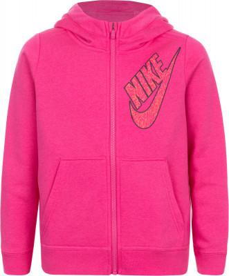 Джемпер для девочек NikeКлассический джемпер от nike придется по душе юным поклонницам спортивного стиля.<br>Пол: Женский; Возраст: Дети; Вид спорта: Спортивный стиль; Покрой: Прямой; Капюшон: Не отстегивается; Количество карманов: 2; Застежка: Молния; Производитель: Nike; Артикул производителя: 860099-615; Материал верха: 52 % хлопок, 28 % вискоза, 20 % полиэстер; Материал подкладки: 50 % хлопок, 50 % вискоза; Размер RU: 152-158;