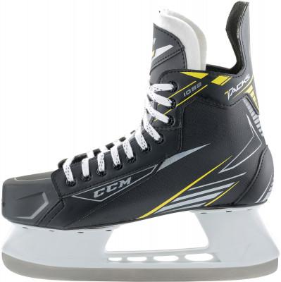 Коньки хоккейные CCM SK 1092Хоккейные коньки от ccм, линии tacks, рекомендуются широкому кругу любителей хоккея.<br>Вес, кг: 855 г. в размере 8; Раздвижной ботинок: Нет; Термоформируемый ботинок: Да; Материал ботинка: Нейлон; Материал подкладки: Микроволокно; Материал лезвия: Углеродистая сталь; Анатомический ботинок: Да; Широкая колодка: Да; Тип фиксации: Шнурки; Усиленный ботинок: Нет; Поддержка голеностопа: Есть; Ударопрочный мыс: Да; Морозоустойчивый стакан: Нет; Защитное напыление лезвия: Нет; Анатомическая стелька: Нет; Усиленный язык: Нет; Анатомические вкладыши: Нет; Съемный внутренний ботинок: Нет; Материал подошвы: Пластик; Заводская заточка: Нет; Утепленный ботинок: Нет; Сезон: 2017/2018; Пол: Мужской; Возраст: Взрослые; Вид спорта: Хоккей; Уровень подготовки: Средний; Технологии: E-PRO, FELT TONGUE (5mm), REINFORCED CLEAR TPU INJECTED OUTSOLE WITH EXHAUST SYSTEM; Производитель: CCM; Артикул производителя: 3499085; Срок гарантии: 3 года; Страна производства: Китай; Размер RU: 42;