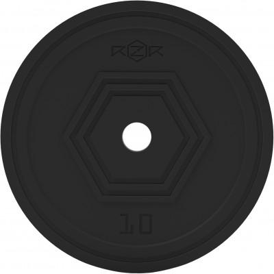 Блин стальной обрезиненный, 10 кг RZR-R100