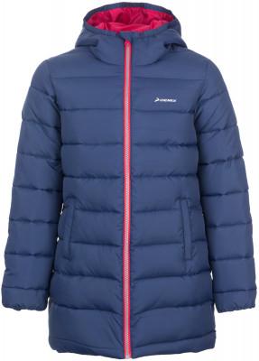 Куртка утепленная для девочек DemixУдлиненная куртка для девочек от demix позволит создать спортивный образ даже в холодные дни. Защита от непогоды регулируемый капюшон защищает от ветра и осадков.<br>Пол: Женский; Возраст: Дети; Вид спорта: Спортивный стиль; Вес утеплителя на м2: 180 г/м2; Наличие чехла: Нет; Возможность упаковки в карман: Нет; Защита от ветра: Нет; Покрой: Приталенный; Светоотражающие элементы: Да; Дополнительная вентиляция: Нет; Проклеенные швы: Нет; Длина куртки: Длинная; Наличие карманов: Да; Капюшон: Не отстегивается; Количество карманов: 2; Артикулируемые локти: Нет; Застежка: Молния; Производитель: Demix; Артикул производителя: EJAG02P413; Страна производства: Китай; Материал верха: 100 % полиэстер; Материал подкладки: 100 % полиэстер; Материал утеплителя: 100 % полиэстер; Размер RU: 134;