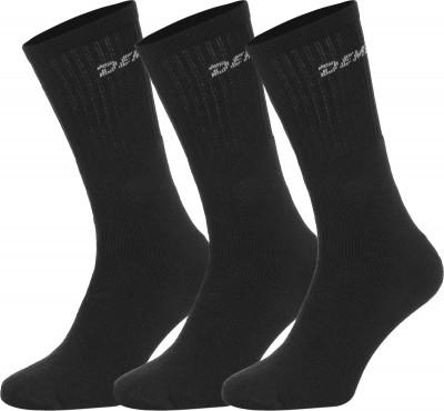 Носки Demix, 3 парыКачественные спортивные носки прекрасно подойдут для тренинга. Изделие отлично пропускает воздух и обладает высокими износостойкими качествами.<br>Пол: Мужской; Возраст: Взрослые; Вид спорта: Тренинг; Материалы: 70 % хлопок, 29 % полиэстер, 1 % эластан; Производитель: Demix Basic; Артикул производителя: ESOM029943; Страна производства: Португалия; Размер RU: 43-46;