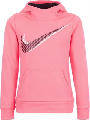 Джемпер для девочек Nike ThermaДжемпер для девочек nike therma training hoodie станет отличным выбором для фитнеса в прохладную погоду. Практичность спереди расположен карман-кенгуру.<br>Пол: Женский; Возраст: Дети; Вид спорта: Фитнес; Капюшон: Не отстегивается; Количество карманов: 1; Застежка: Отсутствует; Производитель: Nike; Артикул производителя: 859972-617; Страна производства: Китай; Материал верха: 100 % полиэстер; Размер RU: 128-140;