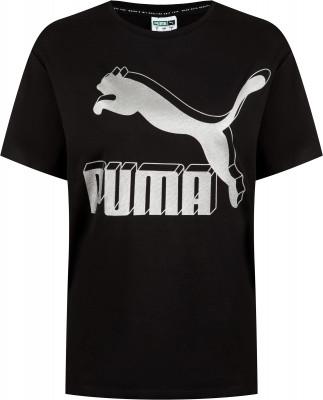 Футболка женская Puma Classics Logo Tee, размер 44-46
