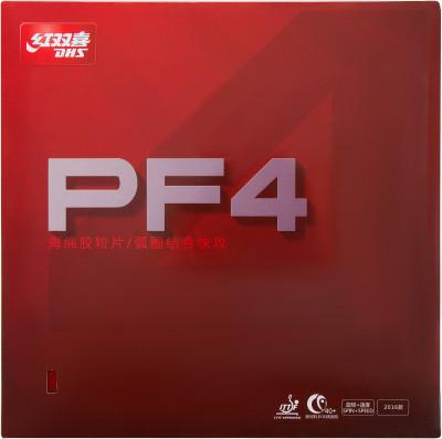 Накладка DHS PF4Накладки<br>Накладка dhs pf4 рекомендуется для нападающих и универсальных игроков, использующих топ-спины и атакующие удары в сочетании с надежным приемом и уверенной короткой игрой.