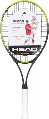 Ракетка для большого тенниса 27 Head Tour ProРакетка с небольшим весом и увеличенной головой, которая подойдет начинающему игроку или любителю.<br>Материал ракетки: Алюминий; Вес (без струны), грамм: 275; Размер головы: 709 кв.см; Баланс: 325 мм; Толщина обода: 22,5 мм; Длина: 27; Струнная формула: 18х19; Стиль игры: Защитный стиль; Технологии: Nano Titanium; Производитель: Head; Артикул производителя: 233728; Срок гарантии: 2 года; Страна производства: Китай; Вид спорта: Теннис; Уровень подготовки: Начинающий; Наличие струны: В комплекте; Наличие чехла: Опционально; Размер RU: Без размера;