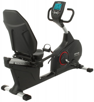 Велоэргометр горизонтальный Kettler RE7Велоэргометр гарантирует максимальный комфорт во время тренировок и позволяет укрепить мышцы ног и пресса.<br>Система нагружения: Электромагнитная; Масса маховика: 10 кг; Регулировка нагрузки: Электронная; Нагрузка: 25-400 Вт (шаг - 5 Вт); Измерение пульса: Датчик Ушная клипса; Нагрудный кардиодатчик: В комплекте; Питание тренажера: Сеть: 220В; Максимальный вес пользователя: 150 кг; Время тренировки: Есть; Скорость: Есть; Пройденная дистанция: Есть; Уровень нагрузки: Есть; Скорость вращения педалей: Есть; Израсходованные калории: Есть; Пульс: Есть; Хранение данных о пользователях: 4 пользователя + гость + запись на USB-флешку; Контроль за верхним пределом пульса: Есть; Целевые тренировки (CountDown): Есть; Дополнительные функции: Фитнес-тест, USB для синхронизации с ПК, жироанализатор и Личный тренер; Общее количество тренировочных программ: 48; Пользовательские программы: 3; Регулировка сиденья: горизонтальная; Транспортировочные ролики: Есть; Компенсаторы неровности пола: Есть; Дополнительно: Регулировка угла наклона консоли; Размер в рабочем состоянии (дл. х шир. х выс), см: 171 x 55.5 x 121; Вес, кг: 69; Вид спорта: Кардиотренировки; Производитель: Heinz-Kettler GmbH &amp; CO.KG; Артикул производителя: 07688-160; Срок гарантии: 2 года; Страна производства: Германия; Размер RU: Без размера;